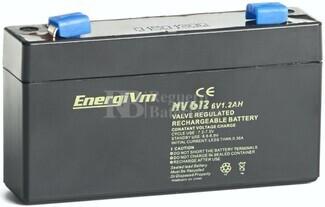 Batería para ascensor 6 Voltios 1,2 Amperios Energivm MV612