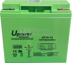 Batería para Ascensores 12 Voltios 18 Amperios UP18-12