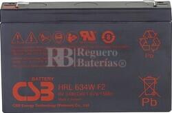 Batería para Ascensores 6 Voltios 9 Amperios CSB HRL634WF2