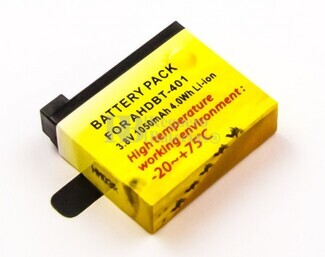Bater�a para c�mara GoPro Hero 4   Li-ion, 3,8V, 1050mAh, 4,0Wh, alta temperatura