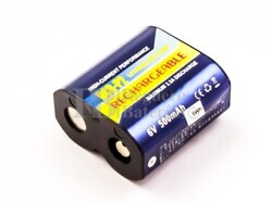 Batería para cámaras digitales CR-P2, Li-ion, 6,0V, 500mAh, 3,0Wh