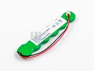 Bateria para memoria Backup 7,2 Voltios 15 mah NI-MH 69,3 x 13,1 x 4,8 mm