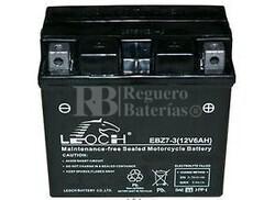 Bateria para Moto YTZ7S, GTZ7S, CT7Z-S, EBZ7-3 AGM 12 Voltios 6 Amperios Positivo Derecha 113x70x105mm