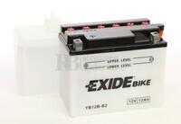 Batería para Moto EXIDE 12 Voltios 12 Amperios EB12B-B2 - YB12B-B2  160mm x 90mm x 130mm