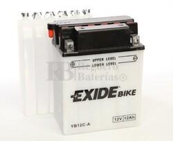 Batería para Moto EXIDE 12 Voltios 12 Amperios EB12C-A - YB12C-A  134mm x 80mm x 175mm