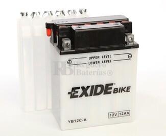 Bater�a para Moto EXIDE 12 Voltios 12 Amperios EB12C-A - YB12C-A  134mm x 80mm x 175mm