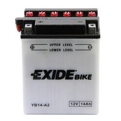 Batería para Moto EXIDE 12 Voltios 14 Amperios EB14-A2 - YB14-A2  134mm x 89mm x 166mm