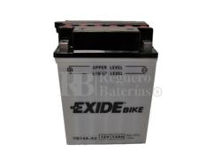 Bater�a para Moto EXIDE 12 Voltios 14 Amperios EB14A-A2 - YB14A-A2  135mm x 89mm x 175mm