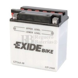 Batería para Moto EXIDE 12 Voltios 20 Amperios 12Y16A-3B  185mm x 81mm x 170mm