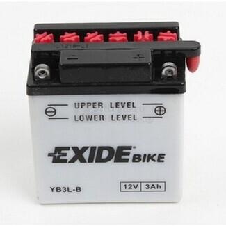 Batería para Moto EXIDE 12 Voltios 3 Amperios EB3L-B - YB3L-B  98mm x 56mm x 110mm