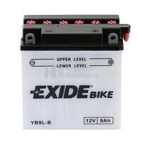 Batería para Moto EXIDE 12 Voltios 9 Amperios EB9L-B - YB9L-B  135mm x 75mm x 139mm