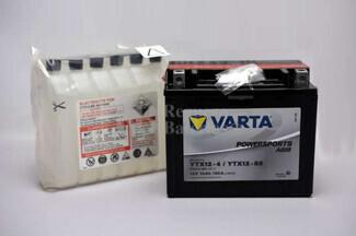 Batería para Moto VARTA 12 Voltios 10 Ah en C10 PowerSports AGM Ref.510012009 YTX12-4-YTX12-BS EN 150 A 152x88x131
