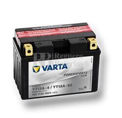 Batería para Moto VARTA 12 Voltios 11 Ah en C10 PowerSports AGM Ref.511901014 YT12A-4/YT12A-BS EN 160 A 150x88x105