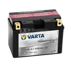 Batería para Moto VARTA 12 Voltios 11 Ah en C10 PowerSports AGM Ref.511902023 TTZ14S-4/TTZ14S-BS EN 230 A 150x87x110