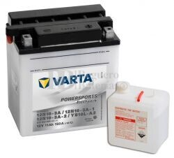 Batería para Moto VARTA 12 Voltios 11 Ah en C10 PowerSports Freshpack Ref.511012009 12N10-3A - 12N10-3A-1 - 12N10-3A-2 - YB10L-A2 EN 150 A 136x91x146
