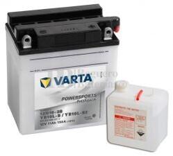 Batería para Moto VARTA 12 Voltios 11 Ah en C10 PowerSports Freshpack Ref.511013009 12N10-3B / YB10L-B2 / YB10L-B EN 150 A 136x91x146