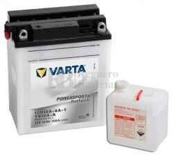 Batería para Moto VARTA 12 Voltios 12 Ah en C10 PowerSports Freshpack Ref.512011012 12N12A-4A1 - YB12A-A EN 160 A 136x82x161