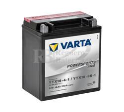 Bater�a para Moto VARTA 12 Voltios 14 Ah en C10 PowerSports AGM Ref.514901022 YTX16-4-1/YTX16-BS-1 EN 210 A 150x87x161