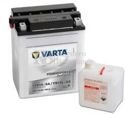 Batería para Moto VARTA 12 Voltios 14 Ah en C10 PowerSports Freshpack Ref.514011014 12N14-3A / YB14L-A2  EN 190 A 136x91x166