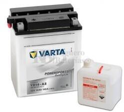 Batería para Moto VARTA 12 Voltios 14 Ah en C10 PowerSports Freshpack Ref.514012014 YB14-A2  EN 190 A 136x91x166