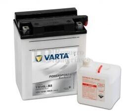 Bater�a para Moto VARTA 12 Voltios 14 Ah en C10 PowerSports Freshpack Ref.514013014 YB14L-B2  EN 190 A 136x91x166