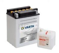 Batería para Moto VARTA 12 Voltios 14 Ah en C10 PowerSports Freshpack Ref.514014014 YB14-B2  EN 190 A 134x89x166