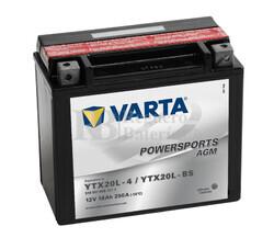 Bater�a para Moto VARTA 12 Voltios 18 Ah en C10 PowerSports AGM Ref.518901026 YX20L-4 / YTX20L-BS EN 250 A 177x88x156