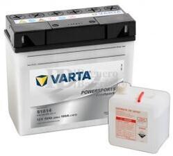 Batería para Moto VARTA 12 Voltios 18 Ah en C10 PowerSports Freshpack Ref.518014015 51814 EN 100 A 186x82x171