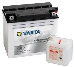 Batería para Moto VARTA 12 Voltios 19 Ah en C10 PowerSports Freshpack Ref.519012019 YB16-B EN 240 A 176x101x156