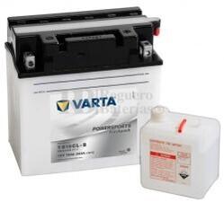 Batería para Moto VARTA 12 Voltios 19 Ah en C10 PowerSports Freshpack Ref.519014018 YB16CL-B EN 240 A 176x101x176