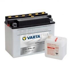 Batería para Moto VARTA 12 Voltios 20 Ah en C10 PowerSports Freshpack Ref.520016020 SY50-N18L-AT EN 260 A 205x90x162