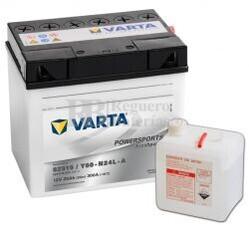 Bater�a para Moto VARTA 12 Voltios 25 Ah en C10 PowerSports Freshpack Ref.525015022 52515 / Y60-N24L-A EN 300 A 186x130x171