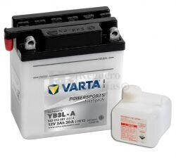 Batería para Moto VARTA 12 Voltios 3 Ah en C10 PowerSports Freshpack Ref.503012001 YB3L-A EN 30 A 100x58x112