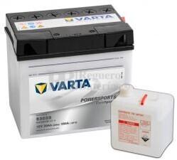 Batería para Moto VARTA 12 Voltios 30 Ah en C10 PowerSports Freshpack Ref.530030030 53030 EN 180 A 186x130x171
