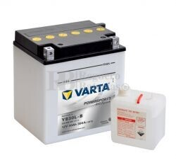 Bater�a para Moto VARTA 12 Voltios 30 Ah en C10 PowerSports Freshpack Ref.530400030 YB30L-B EN 300 A 168x132x176