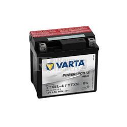 Batería para Moto VARTA 12 Voltios 4 Ah en C10 PowerSports AGM Ref.504012003 YTX5L-4/YTX5L-BS EN 80 A 114x71x106