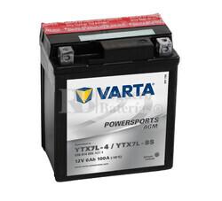 Batería para Moto VARTA 12 Voltios 6 Ah en C10 PowerSports AGM Ref.506014005 YTX7L-4/YTX7L-BS EN 100 A 114x71x131