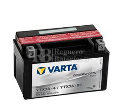 Batería para Moto VARTA 12 Voltios 6 Ah en C10 PowerSports AGM Ref.506015005 YTX7A-4/YTX7A-BS EN 105 A 151x88x94