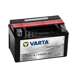 Bater�a para Moto VARTA 12 Voltios 6 Ah en C10 PowerSports AGM Ref.506015005 YTX7A-4-YTX7A-BS EN 105 A 151x88x94