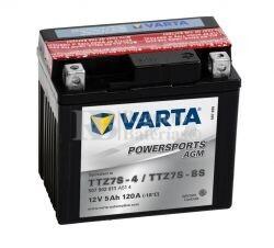 Batería para Moto VARTA 12 Voltios 7 Ah en C10 PowerSports AGM Ref.507901011 TTZ7S-4-TTZ7S-BS-YTZS-4-YTZS-BS EN 120 A 113x70x105