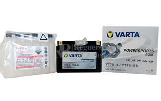 Batería para Moto VARTA 12 Voltios 7 Ah en C10 PowerSports AGM Ref.507901012 YT7B-4-YT7B-BS EN 120 A 150x66x94