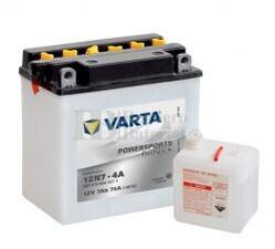 Batería para Moto VARTA 12 Voltios 7 Ah en C10 PowerSports Freshpack Ref.507013004 12N7-4A EN 74 A 136x75x133