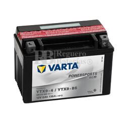 Batería para Moto VARTA 12 Voltios 8 Ah en C10 PowerSports AGM Ref.508012008 YTX9-4/YTX9-BS EN 135 A 152x88x106