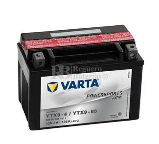 Batería para Moto VARTA 12 Voltios 8 Ah en C10 PowerSports AGM Ref.508012008 YTX9-4-YTX9-BS EN 135 A 152x88x106