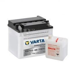 Batería para Moto VARTA 12 Voltios 8 Ah en C10 PowerSports Freshpack Ref.507101008 GM7CZ-3D / YB7C-A EN 110 A 132x92x116