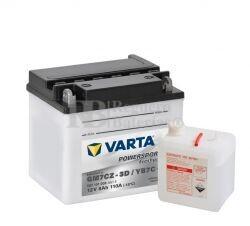 Bater�a para Moto VARTA 12 Voltios 8 Ah en C10 PowerSports Freshpack Ref.507101008 GM7CZ-3D - YB7C-A EN 110 A 132x92x116