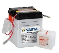 Batería para Moto VARTA 6 Voltios 4 Ah en C10 PowerSports Freshpack Ref.004014001 6N4-2A - 6N4-2A-4 - 6N4-2A-7 - 6N4-2A-4 EN 10 A 71x71x96