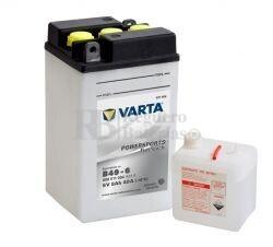 Bater�a para Moto VARTA 6 Voltios 8 Ah en C10 PowerSports Freshpack Ref.008011004 B49-6 EN 40 A 91x83x161