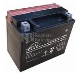 Bateria para Moto YTX12L-BS, LTX12L-BS 12 Voltios 10 Amperios Positivo Derecha 150x87x130mm