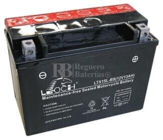 Bateria para Moto YTX15L-BS, LTX15L-BS, GTX15L-BS Positivo Derecho 175x87x130mm